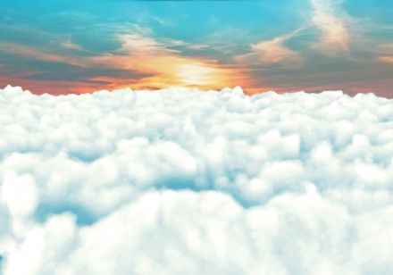 Giant non-woven wallpaper Sky Clouds Sunset